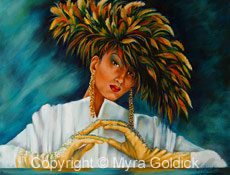 Feather Lady by Myra Goldick